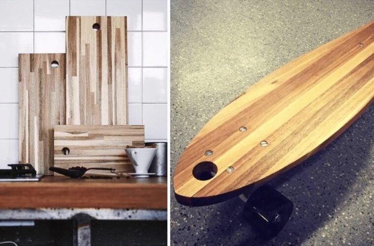 DIY skateboard chopping board
