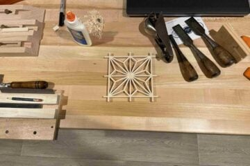 kumiko woodworking dining table