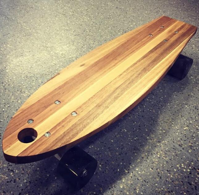DIY skateboard from IKEA chopping board