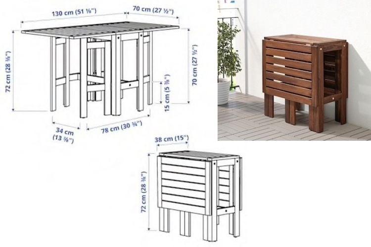 APPLARO gateleg table