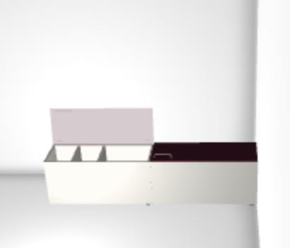 flip top cabinet