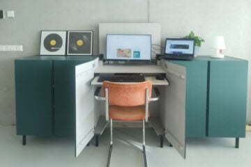 ikea ivar cabinet hidden desk