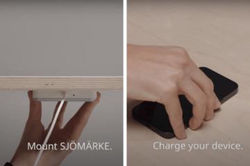 SJÖMÄRKE ikea wireless charging pad