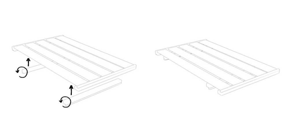 horizontal board
