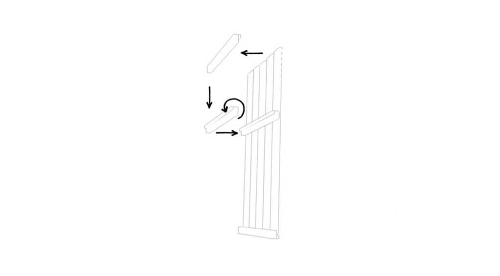 vertical shelf