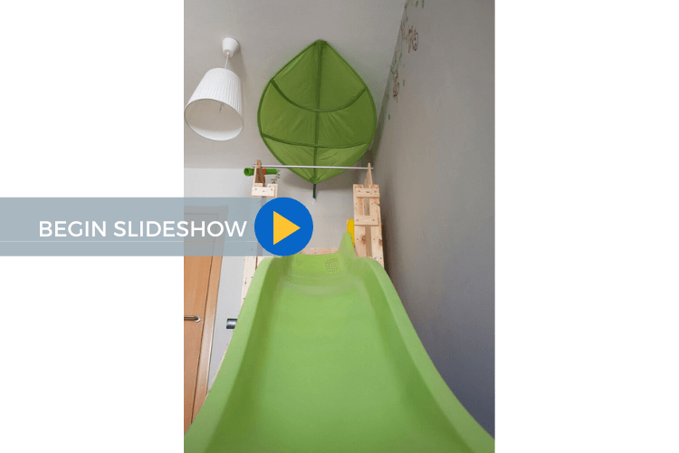 play structure with slide