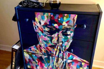 pop art dresser tupac