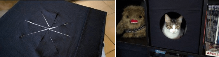 IKEA hack for pets - cat cave
