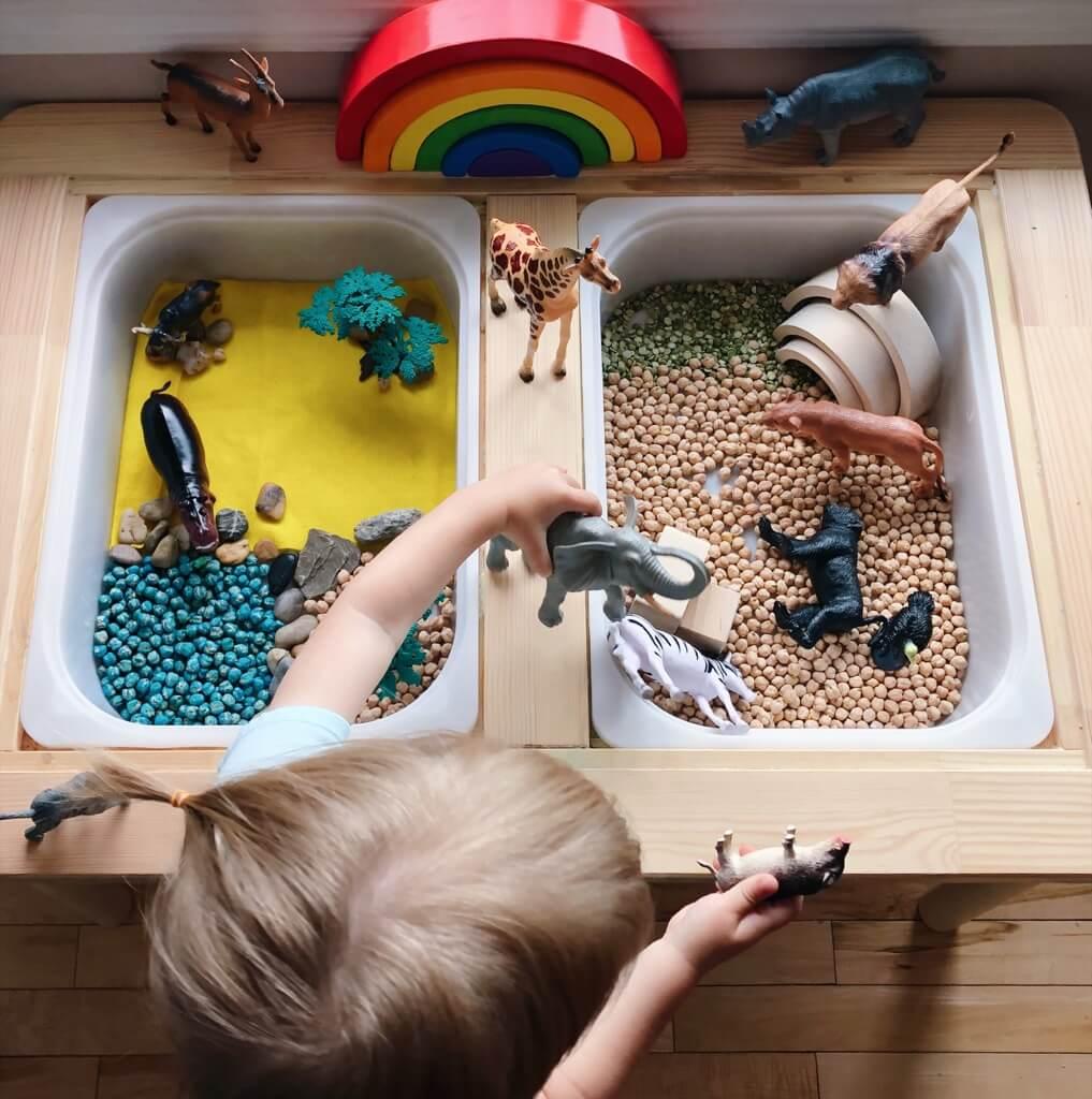 IKEA FLISAT sensory table