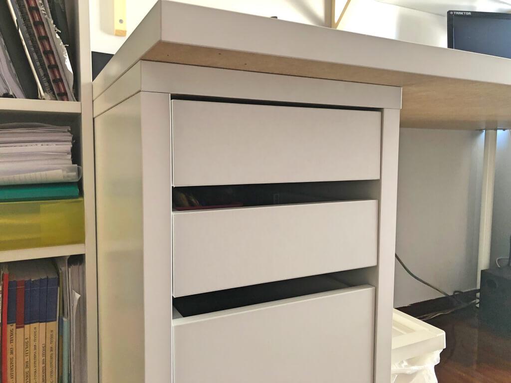IKEA micke drawer unit + LINNMON desk