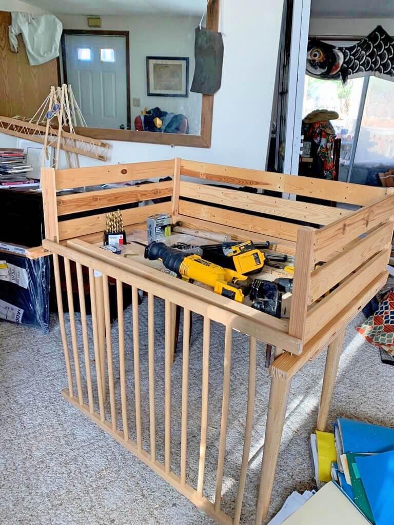 IKEA trampoline crib