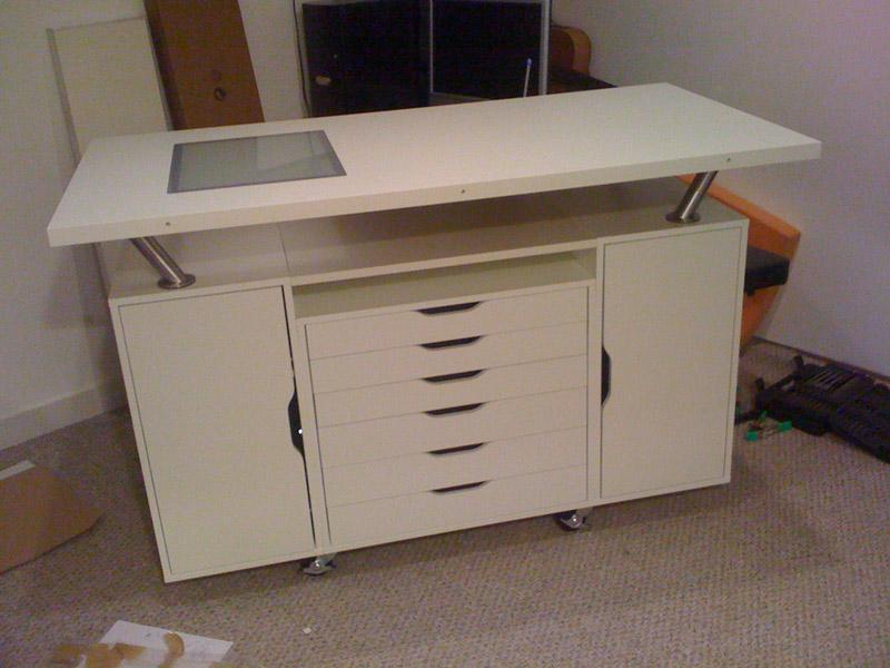 ALEX work table with flat files - IKEA Hackers - IKEA Hackers