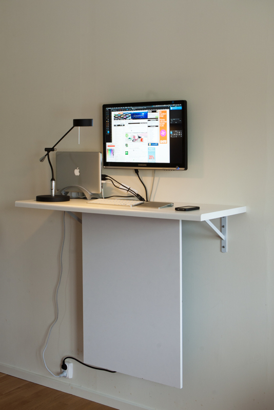Awesome Standing Desk With Invisible Data Storage Ikea Hackers Home Interior And Landscaping Elinuenasavecom
