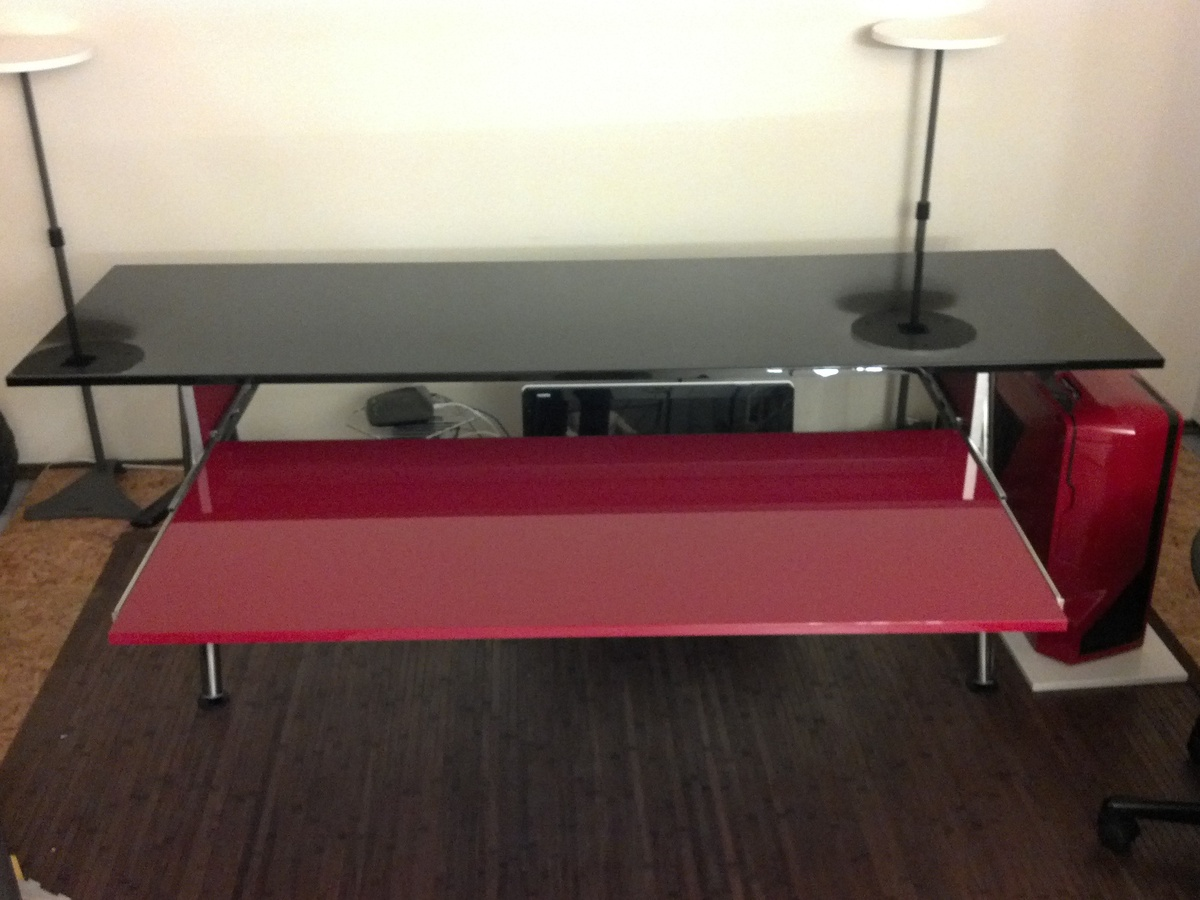 Infrikinhevi Red And Black Home Studio Desk