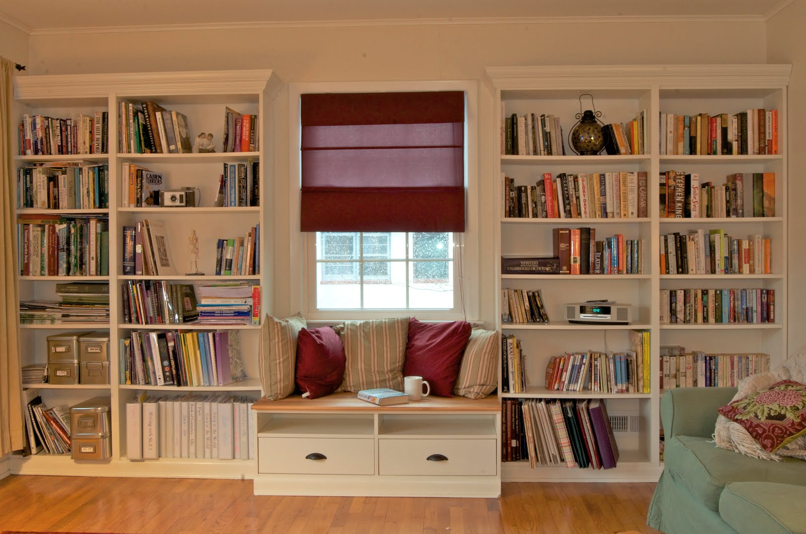 Built in Bookshelves with Window-seat for under $350