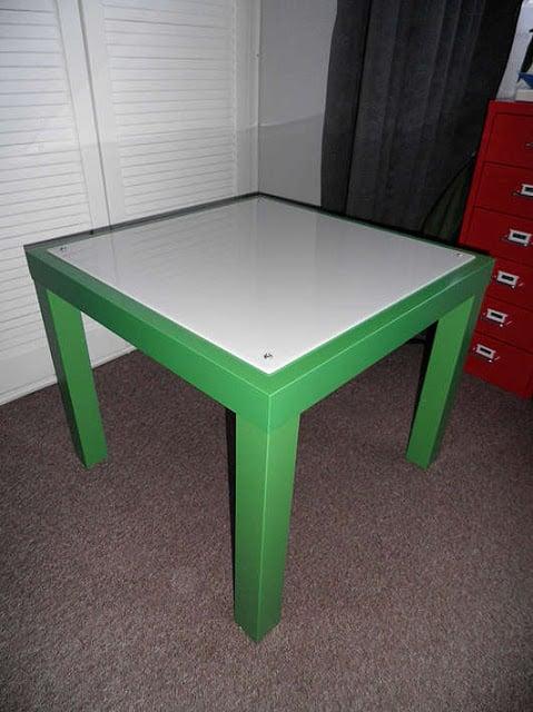 IKEA LACK side table lightbox