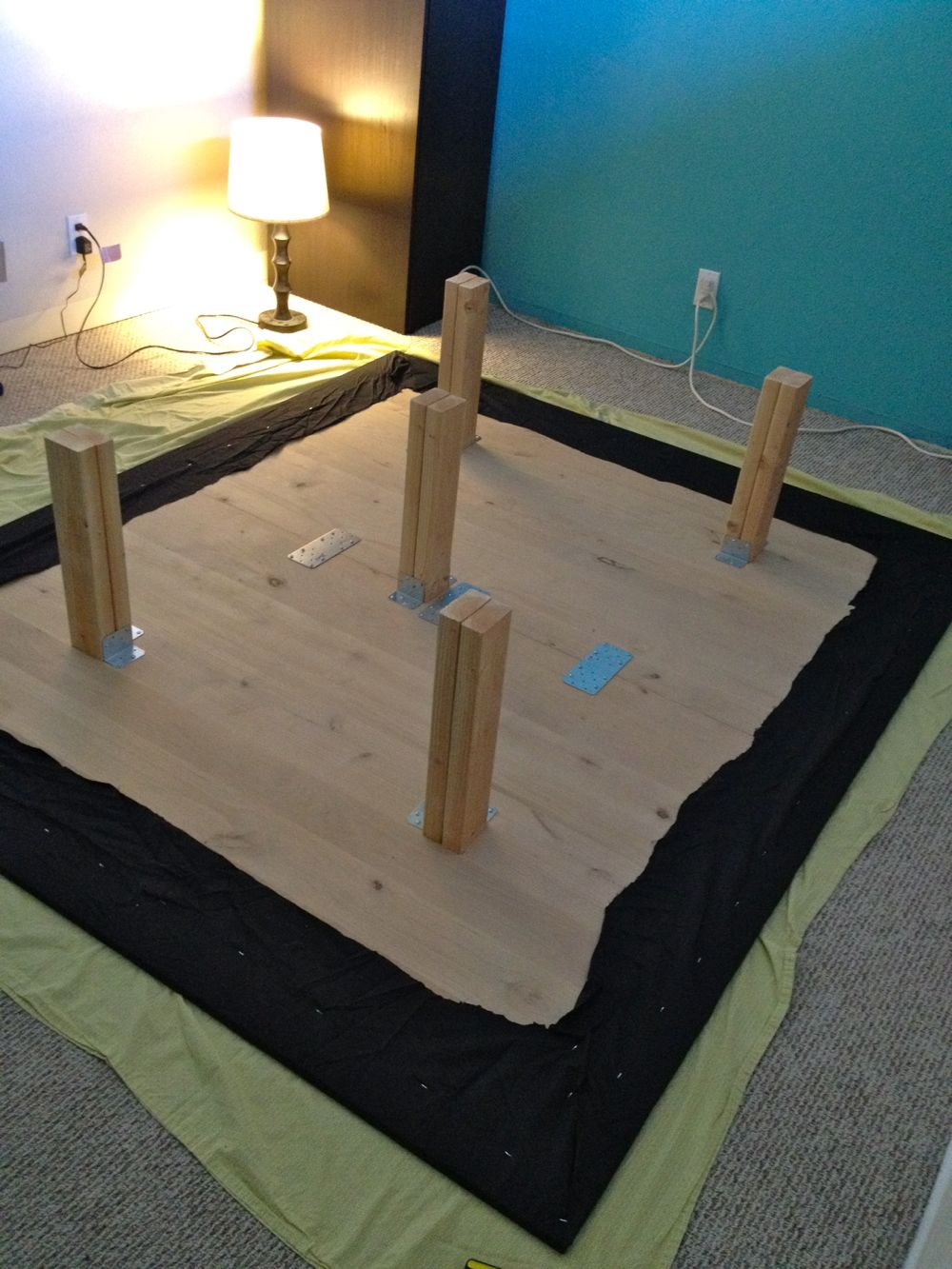 Finally A Cal King Bed Frame With Space For Dog Kennels Ikea Hackers
