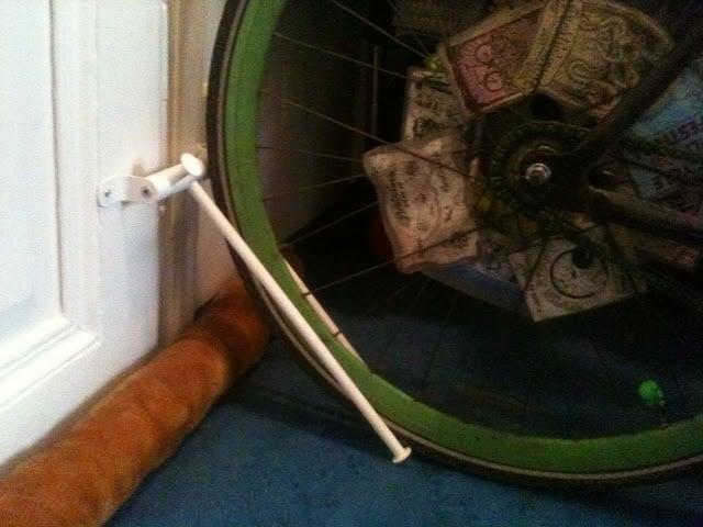 shower bike rack