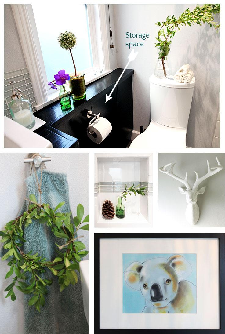 Bathroom vanity hack: Optical illusion with secret storage ...