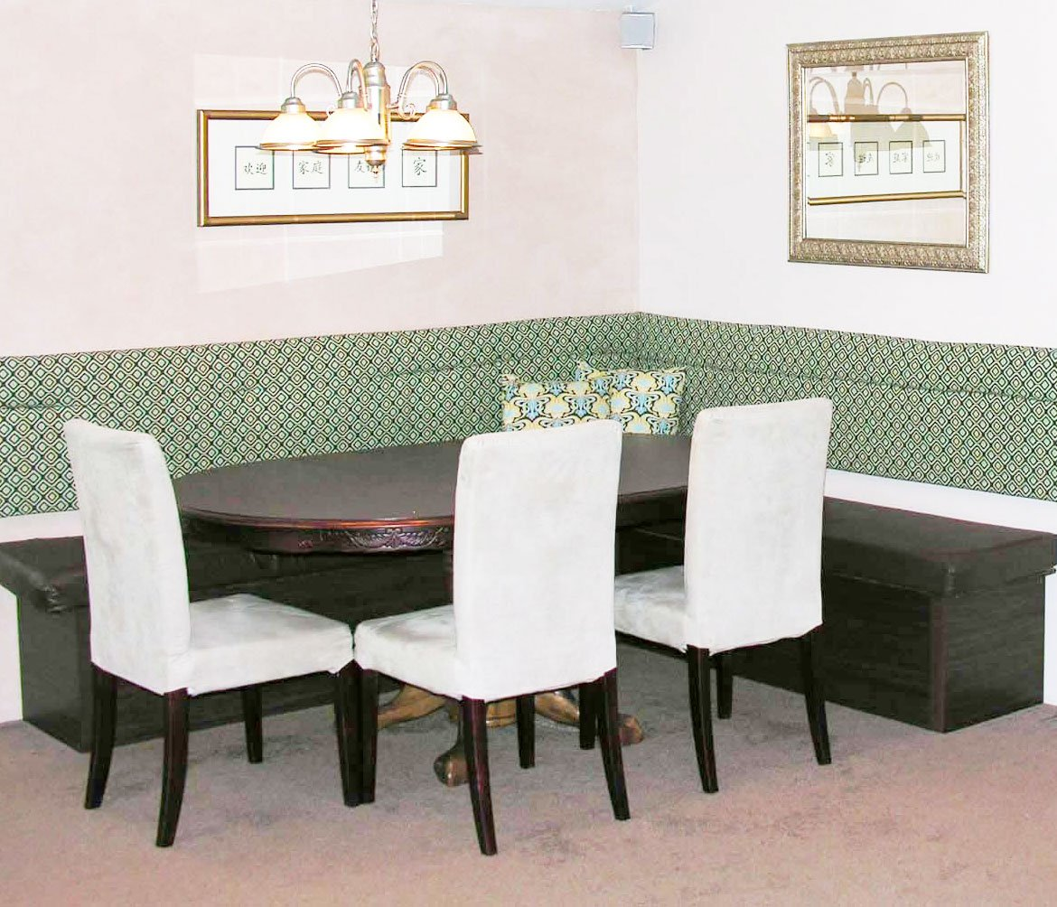 Custom Dining Booth From Bookcases
