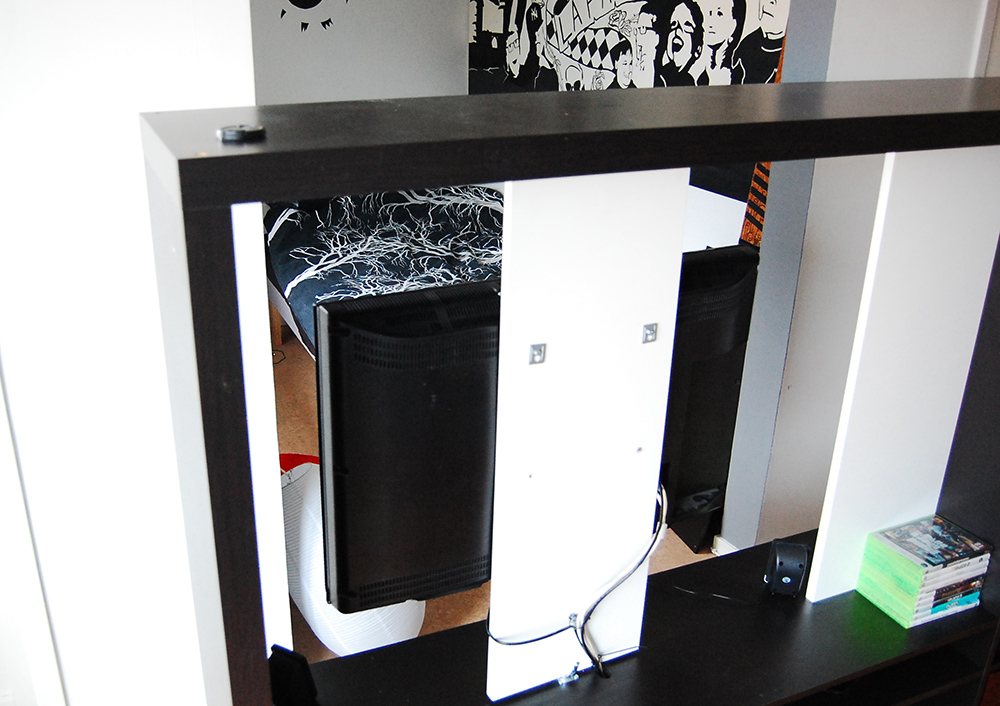 Expedit TV Storage With Rotating TV IKEA Hackers IKEA Hackers  U003e Ikea  Expedit Tv Regal Aufbauanleitung