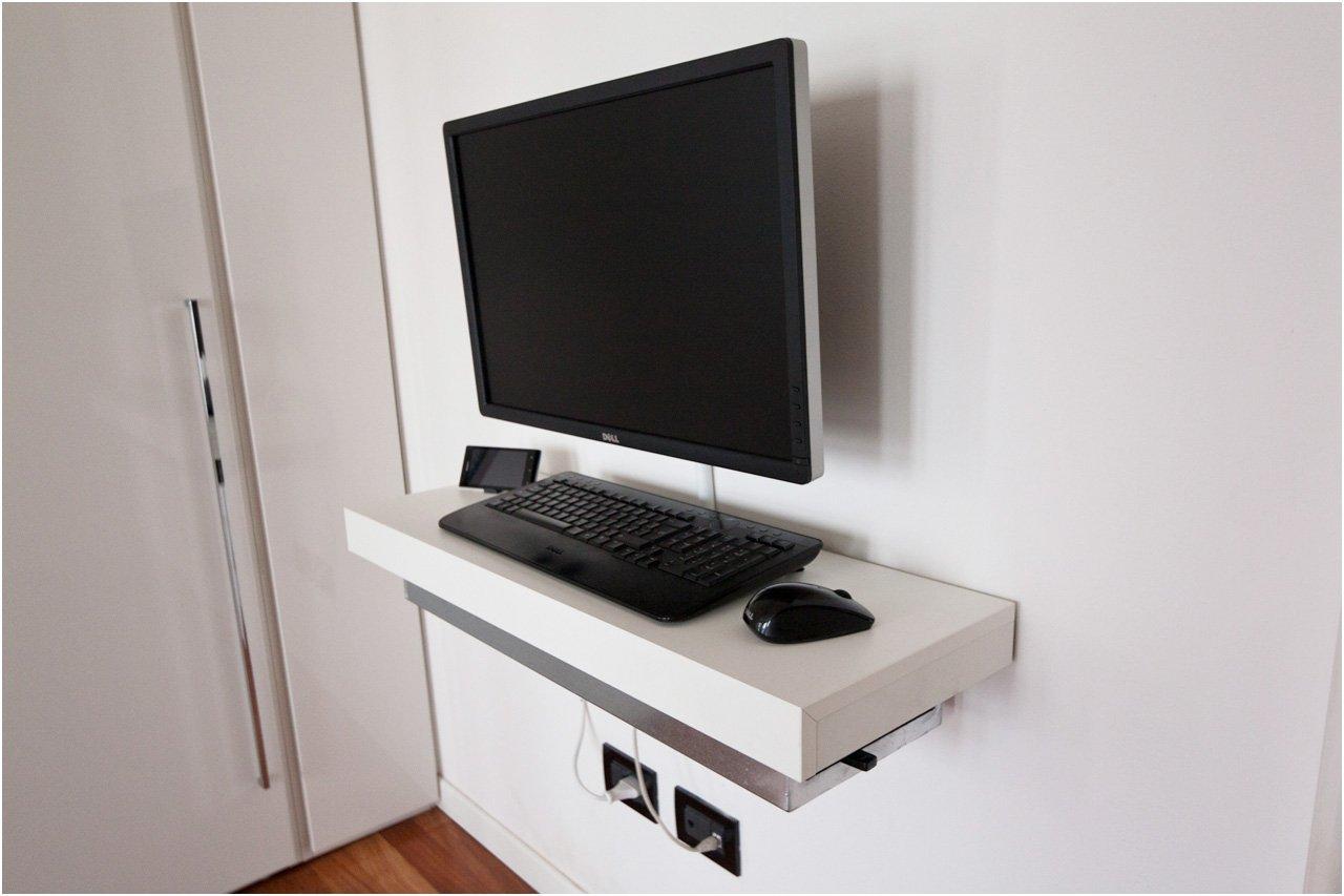 Wall Mounted Computer Desk Mini pc float-and-slide desk - ikea hackers