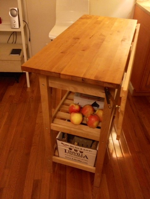 Leaf Hinge Kitchen Cart With Drop Leaf Extension Ikea Hackers Ikea Hackers