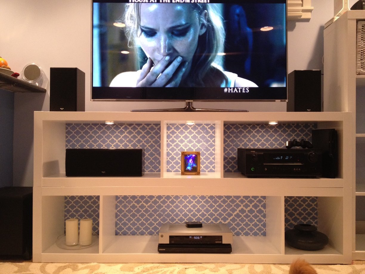 Expedit Bookshelves To Fabulous Tv Stand