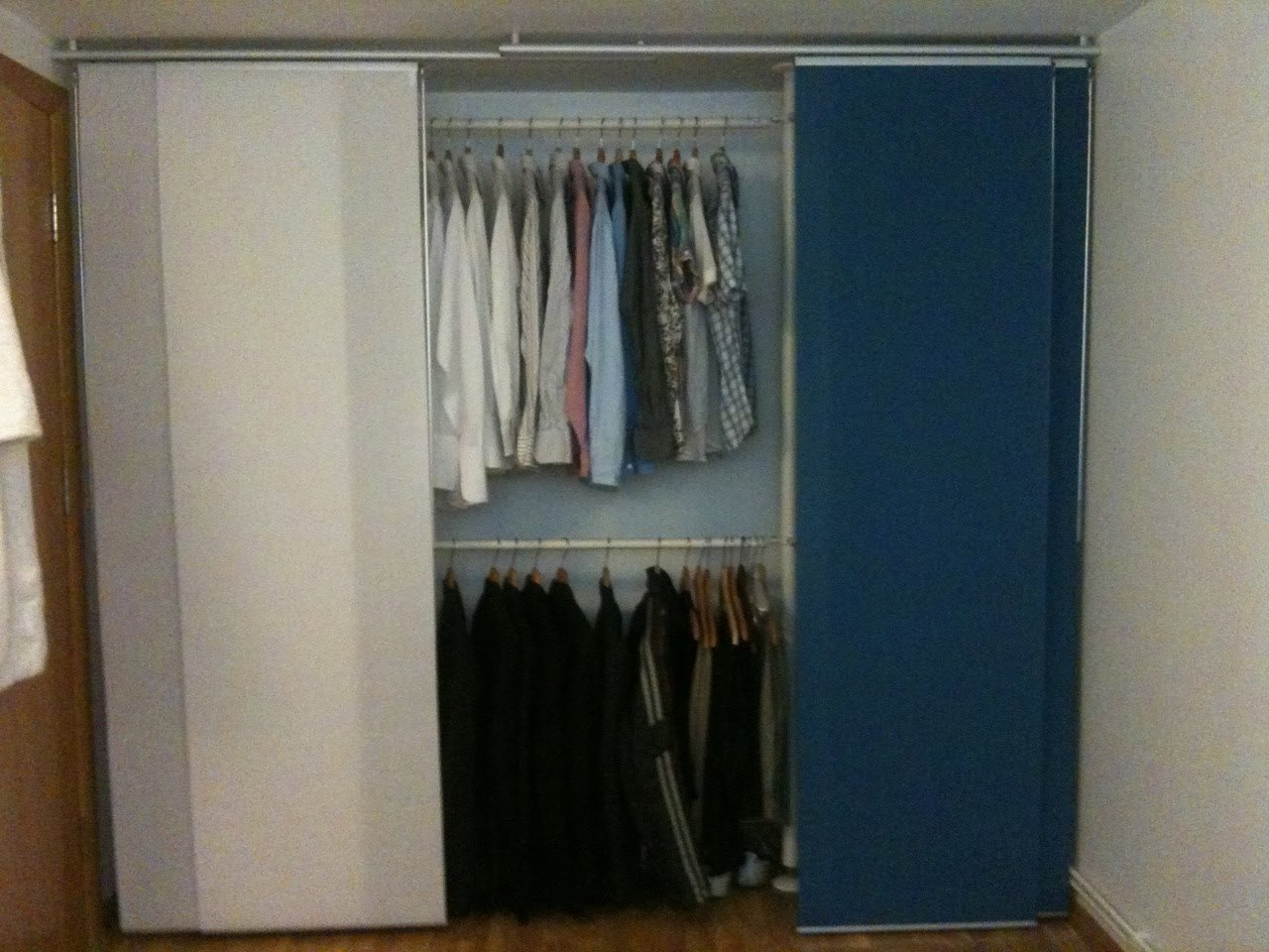 Ikea panel curtain closet door - Quick And Easy Wardrobe
