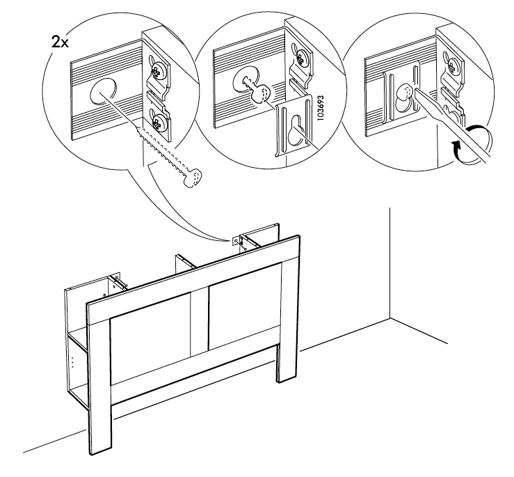 Brimnes Free Standing Headboard, Ikea Brimnes Bed Frame With Storage Instructions