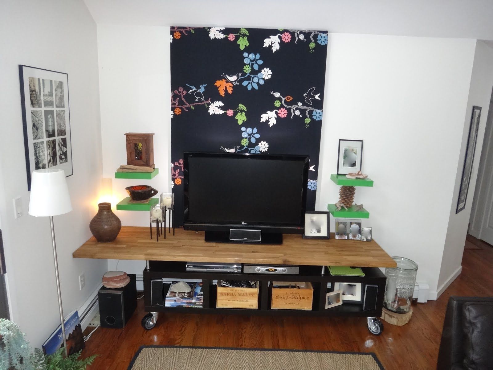 Lack Kitchen Counter Top Modern Tv Stand Entertainment Center Ikea Hackers