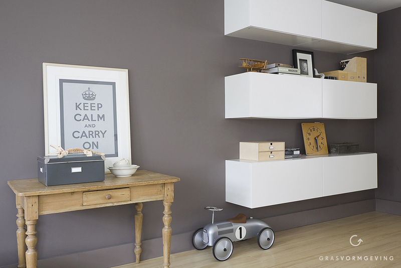 Kitchen Unit Goes Stylish Livingroom Storage Shelving