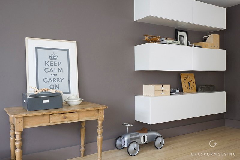Kitchen unit goes stylish livingroom storageshelving unit