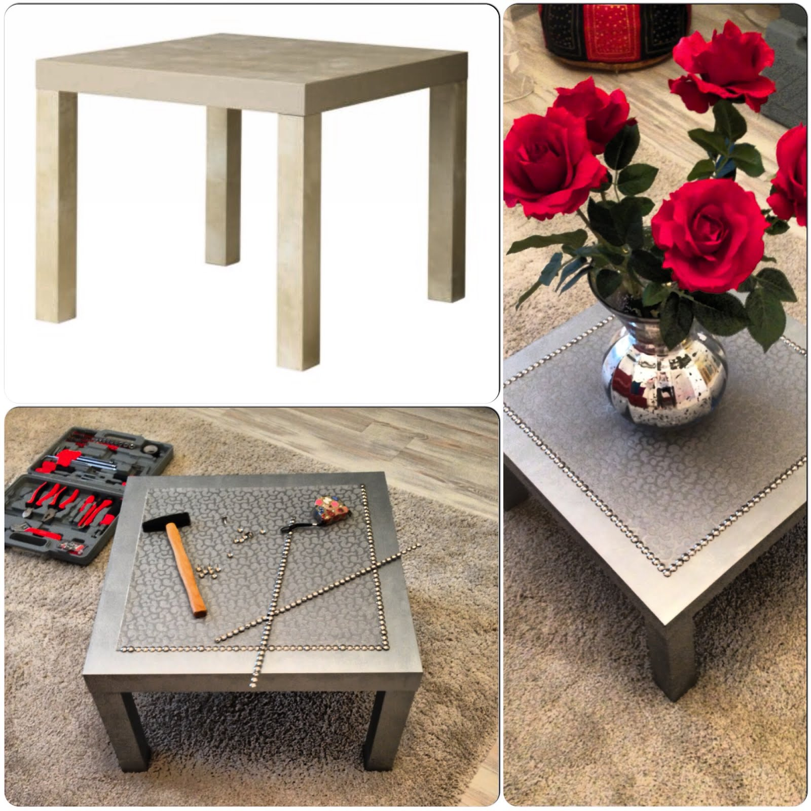 Silver coffee lack table ikea hackers ikea hackers - Customiser table basse ikea ...