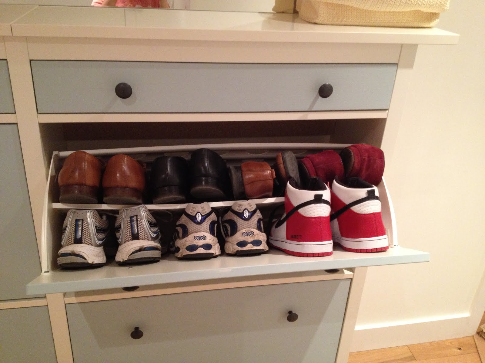Ikea Shoe Drawers Wedded Hemnes Shoe Cabinets Twined And Painted Ikea Hackers