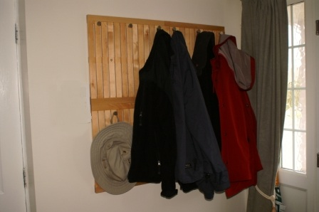 Coat Rack with a bit of Wall Protection