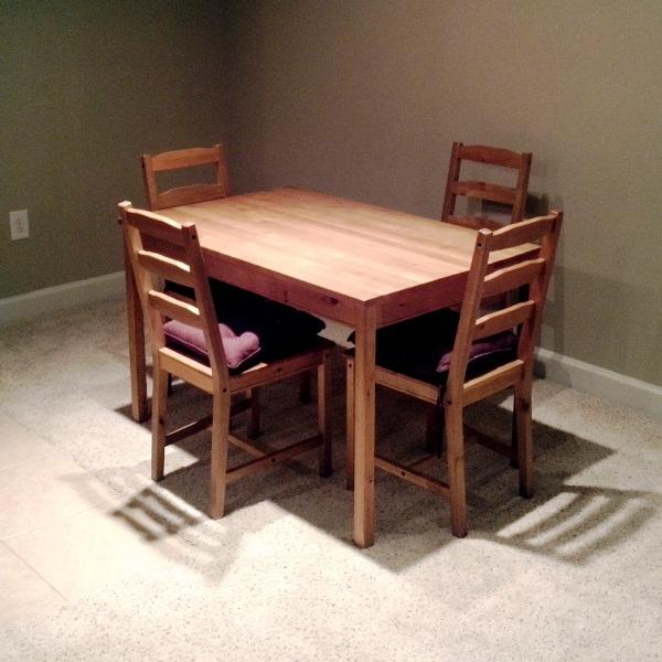 Crate & Barrel Inspired JOKKMOKK dining table