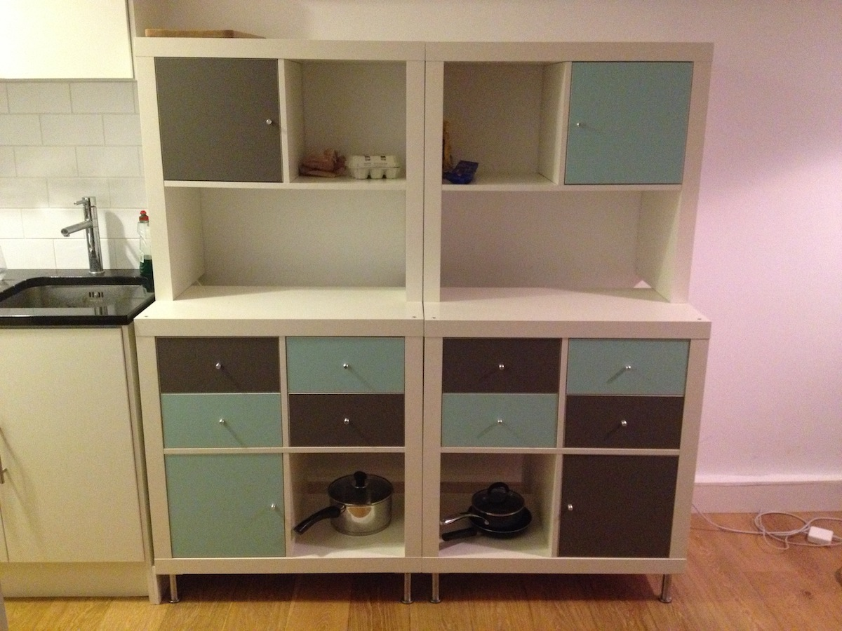 expedit to kitchen storage and work-top - ikea hackers