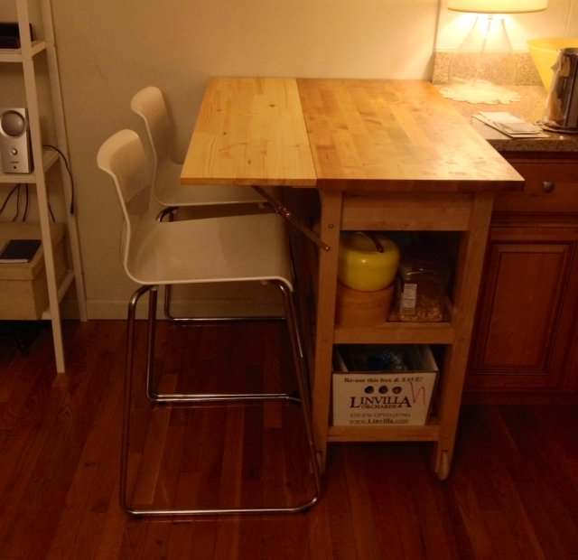 Kitchen cart with drop leaf extension - IKEA Hackers ...