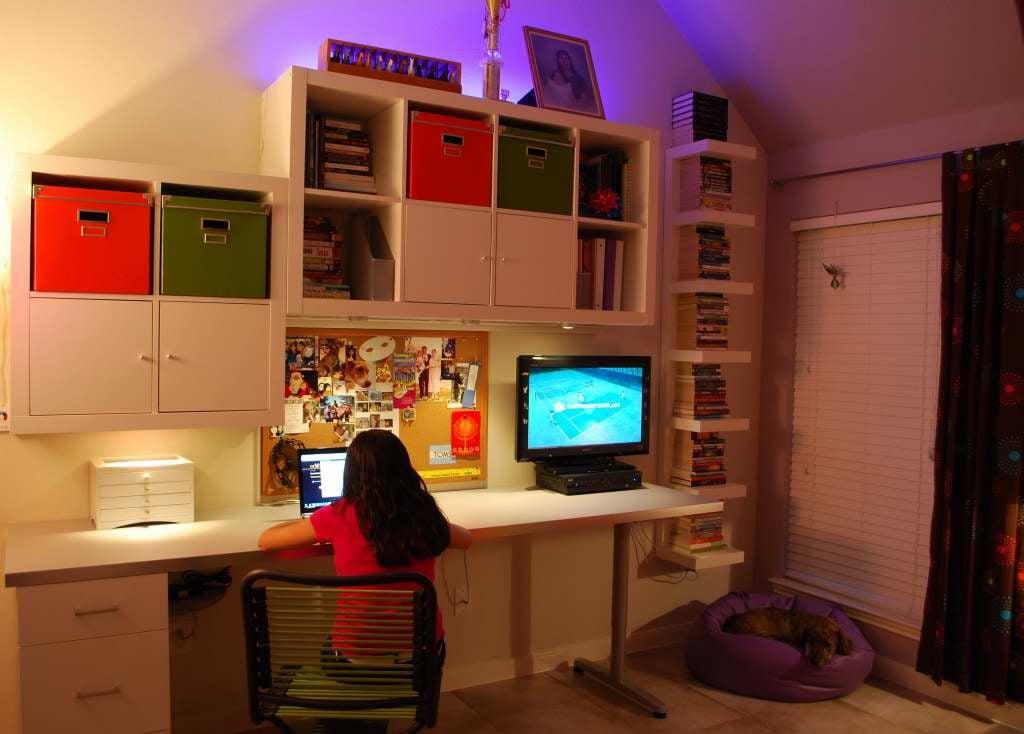 cool teen bedroom workstation