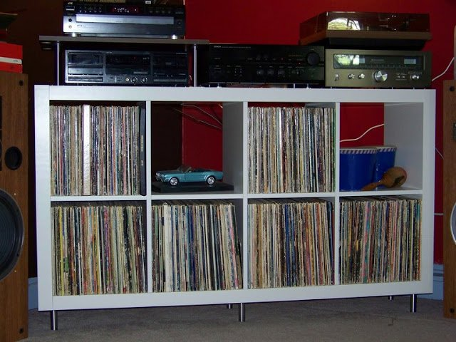 Expedit Ikea Entertainment Center ~ Retro 60's Expedit Stereo Corner  IKEA Hackers  IKEA Hackers