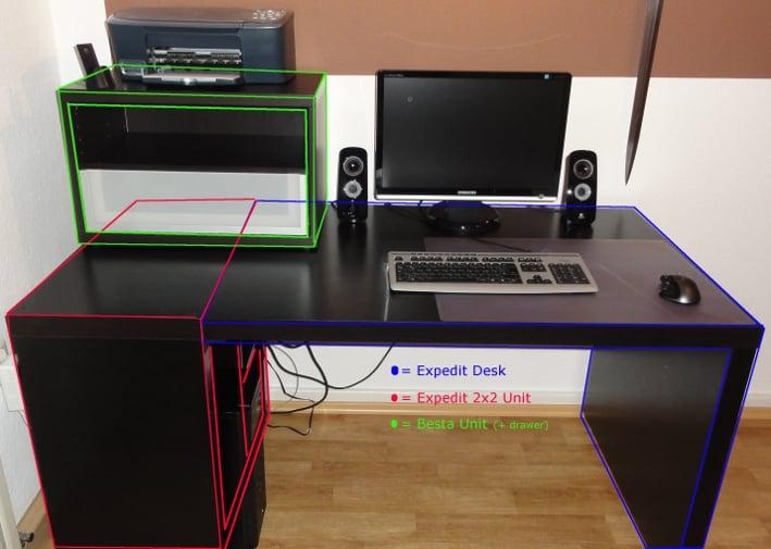 Computer Desk Ikea expedit (computer) desk - ikea hackers - ikea hackers