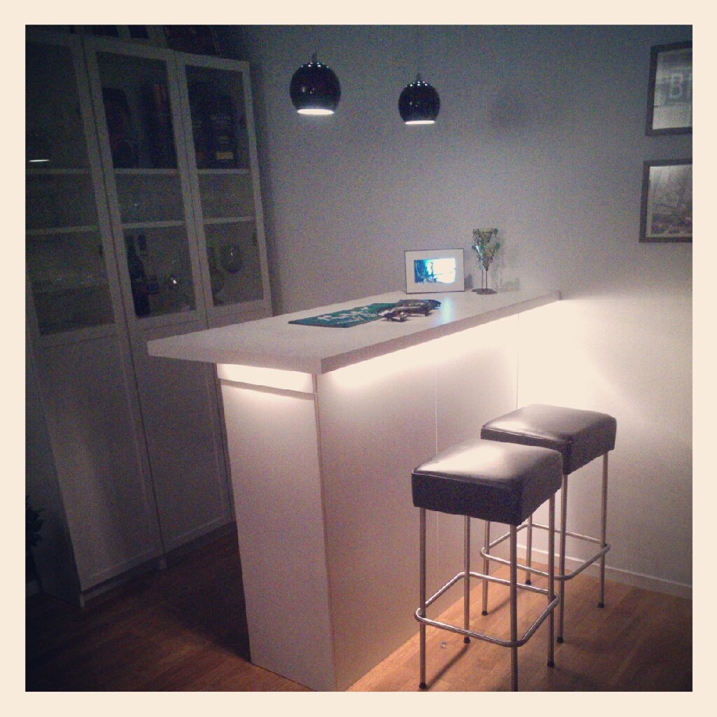 Kitchen cabinets as a bar - IKEA Hackers