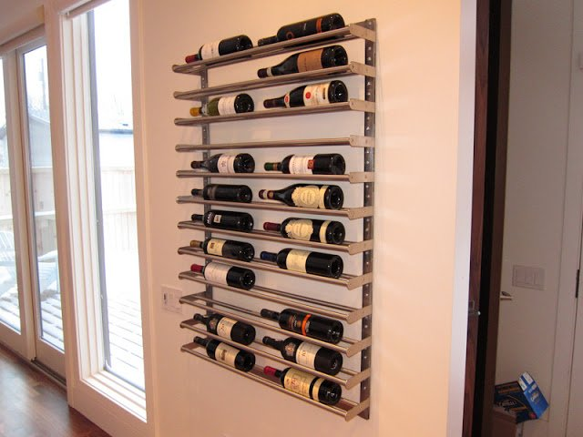 Grundtal towel rail wine rack