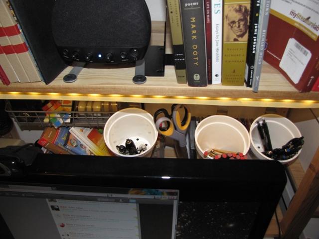 Hanging Desk Organization