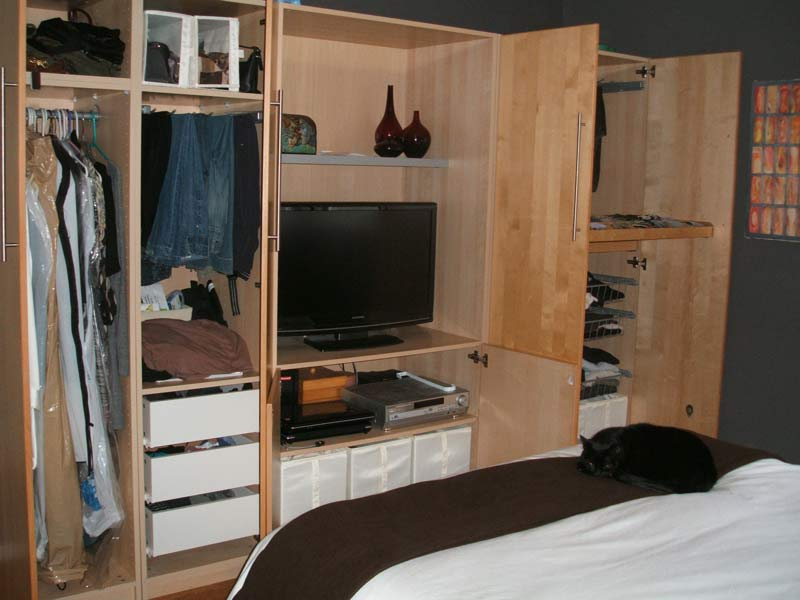Bedroom Malm Nightstand And Pax Tv Stand Hack