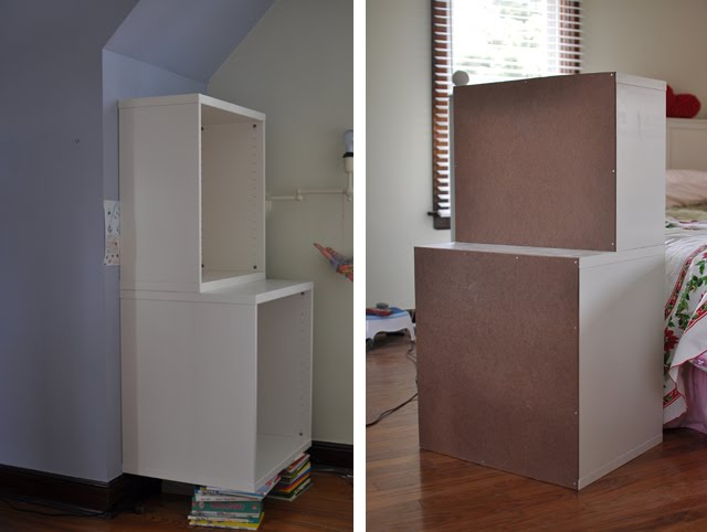 Space-Saving STUVA Storage Closet and Shelf Inset Into Wall - IKEA