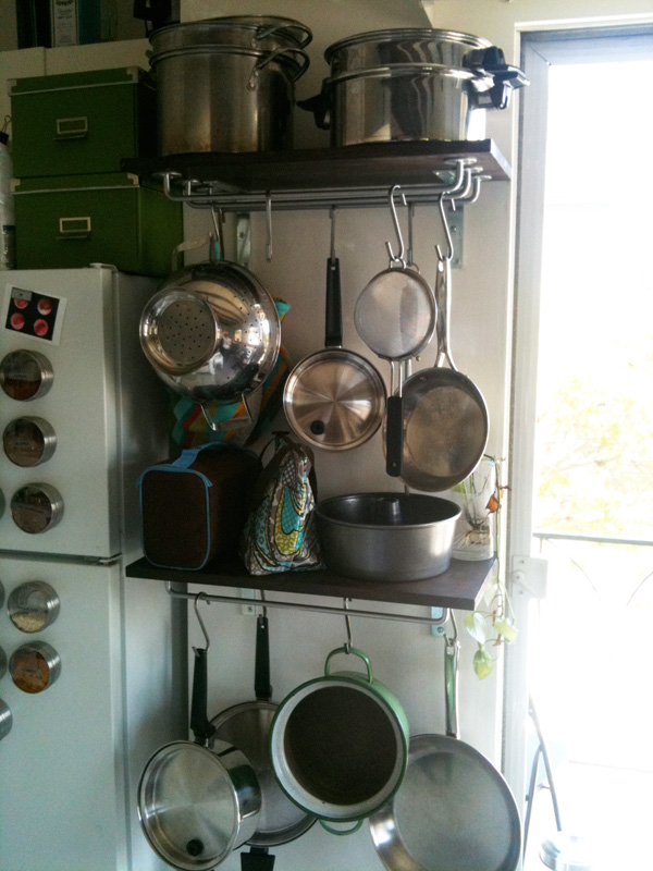 Ikea Grundtal Magnetic Spice Containers ~ Shortened pot rack  IKEA Hackers  IKEA Hackers