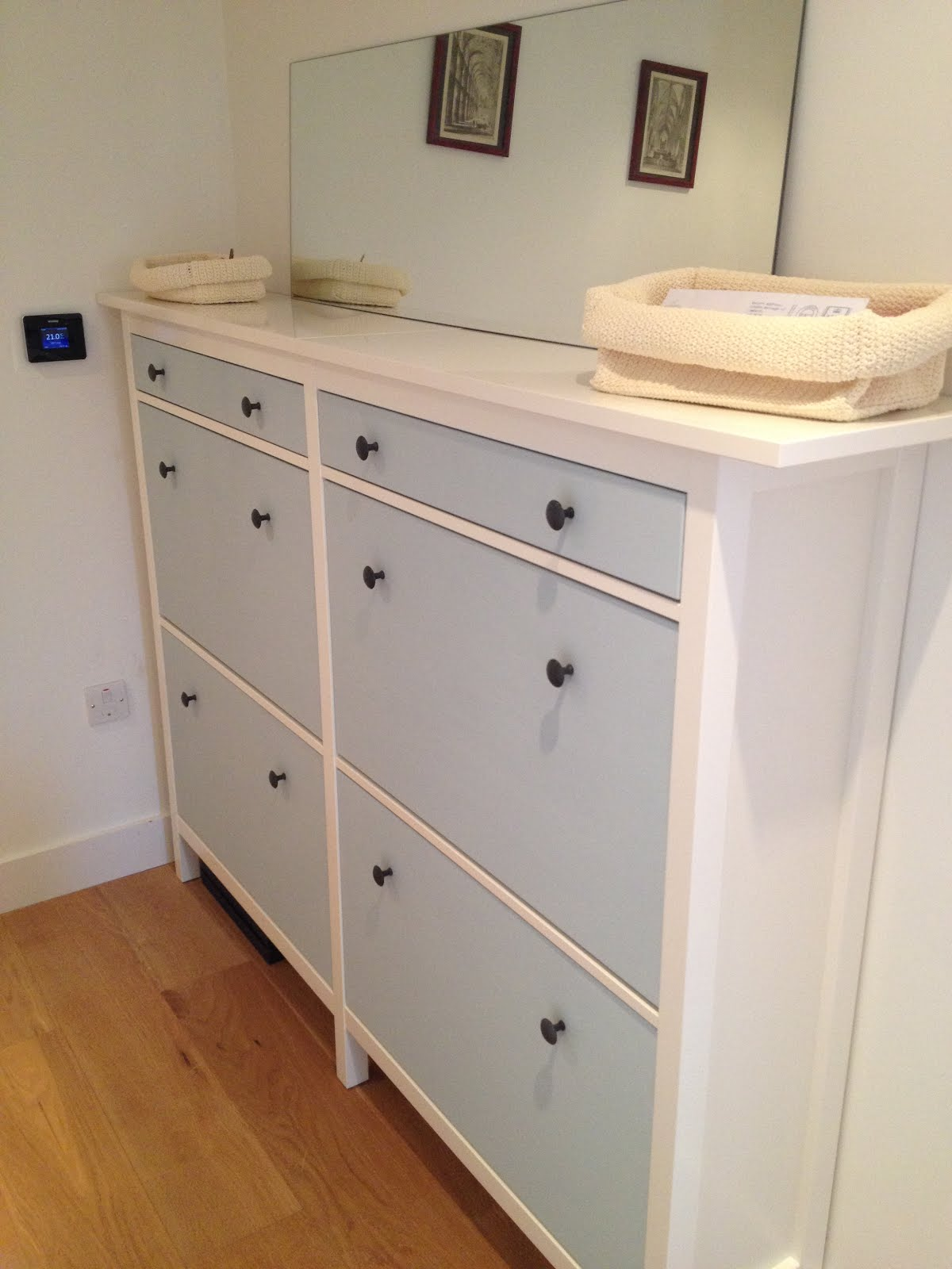 wedded hemnes shoe cabinets twined and painted ikea