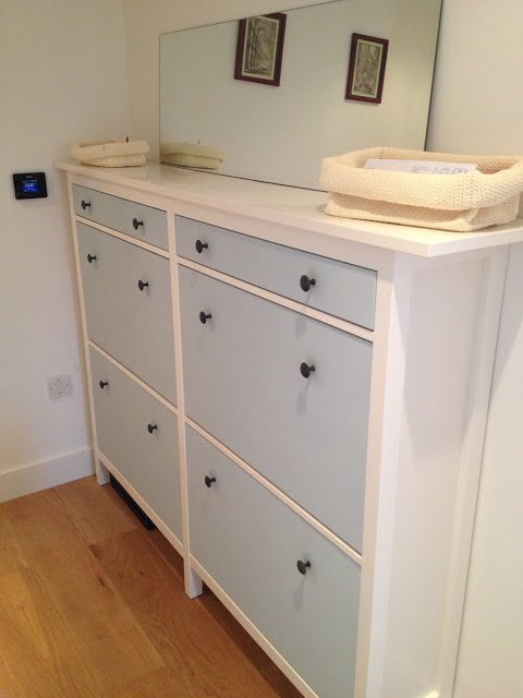 twinned HEMNES shoe storage cabinet